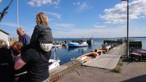 Festlige fiskere i Stavreby Havn